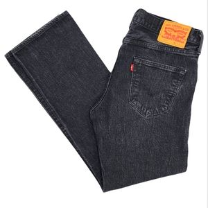 Levi's 501 Button Fly 34x30 Faded Black Button Fly